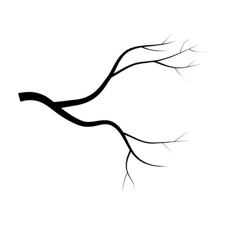 dead tree: bare branch tree silhouette vector symbol icon design. Beautiful illustration isolated on white background