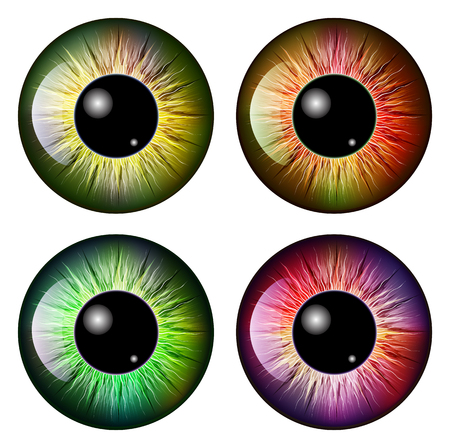 eyes hazel: eye, pupil, iris, vector symbol icon design. Beautiful illustration isolated on white background
