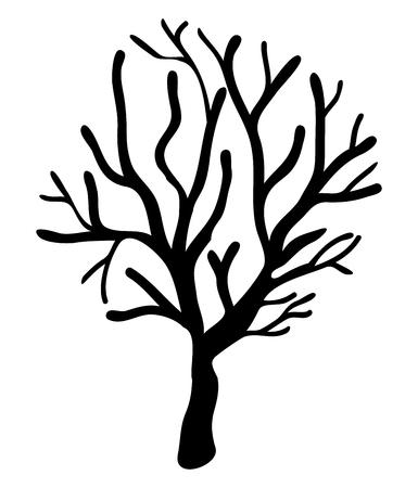 Halloween gruselig unheimlich kahlen Baum Vektor-Symbol Icon-Design. Schöne Illustration isoliert auf weißem Hintergrund