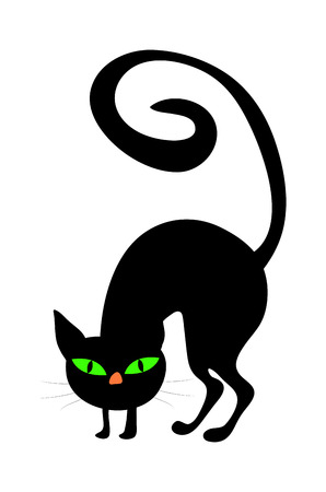 hag: halloween creepy scary witches cat vector symbol icon design. Beautiful illustration isolated on white background Illustration