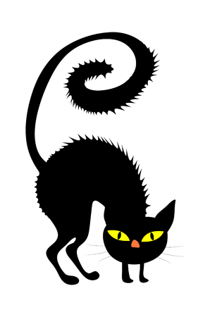 halloween creepy scary witches cat vector symbol icon design. Beautiful illustration isolated on white background Illustration