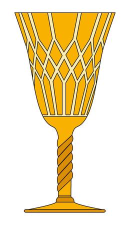 gothic goblet vector symbol icon design. Beautiful illustration isolated on white background