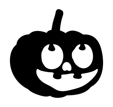 scary, pumpkin face vector symbol icon design. Beautiful illustration isolated on white background