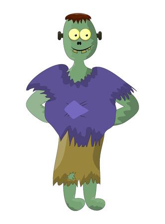 cute zombie, halloween frankenstein vector symbol icon design. Beautiful illustration isolated on white background Illustration