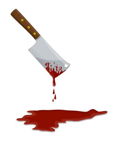 kitchen butcher chopper  with blood vector symbol icon design.