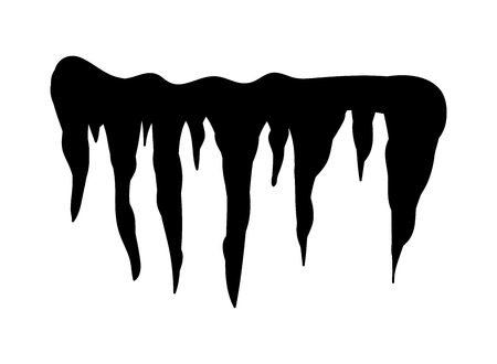 drift: Icicles, snow cap, drift silhouette vector symbol icon design. Beautiful illustration isolated on white background