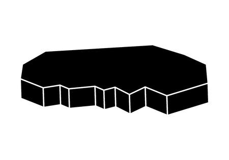 floe: ice floe vector silhouette symbol icon design. Beautiful illustration isolated on white background Illustration