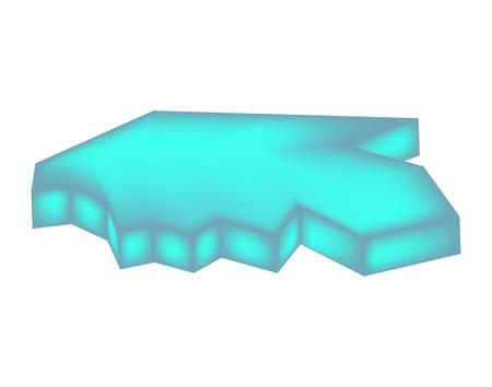 floe: ice floe vector symbol icon design. Beautiful illustration isolated on white background
