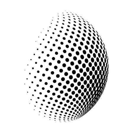 halftone globe logo  vector symbol icon design. Beautiful illustration isolated on white background