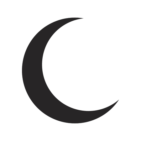 crescent moon silhouette vector symbol icon design. Beautiful illustration isolated on white background
