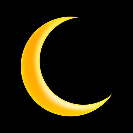 Croissant De Lune Vecteur Symbole Icone Design Belle Illustration