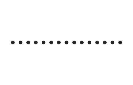 점선 간단한 모양 벡터 기호 아이콘 디자인. 흰색 배경에 고립 된 아름 다운 그림