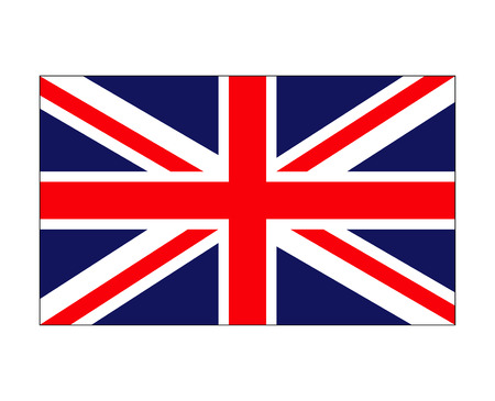 bandera de gran bretaña: bandera británica, inglaterra, símbolo, vector, símbolo, icono, diseño. Hermosa ilustración aislada sobre fondo blanco
