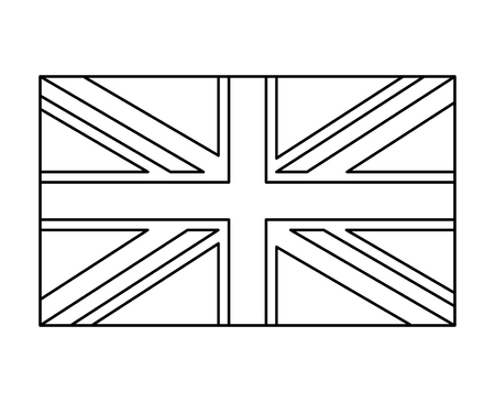 uk flag, england symbol outline vector symbol icon design. Beautiful illustration isolated on white background Иллюстрация