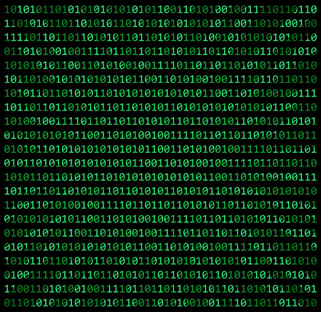 binary code zero one matrix green background beautiful banner wallpaper design illustration