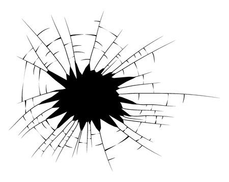 broken glass silhouette vector symbol icon design.