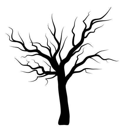 bare tree silhouette vector symbol icon design. Beautiful illustration isolated on white background Illustration