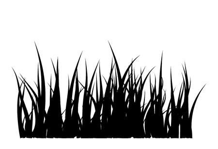 Diseño de icono de símbolo de vector de silueta de hierba. Hermosa ilustración aislada sobre fondo blanco Foto de archivo - 73023385