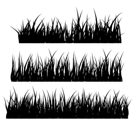 Diseño del icono del símbolo del vector de la silueta de la hierba. Ilustración hermosa aislada en el fondo blanco Foto de archivo - 73023390