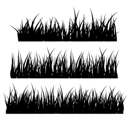Grass silhouette vector symbol icon design. Beautiful illustration isolated on white background