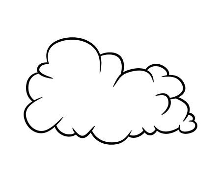 cartoon cloud vector symbol icon design. Beautiful illustration isolated on white background