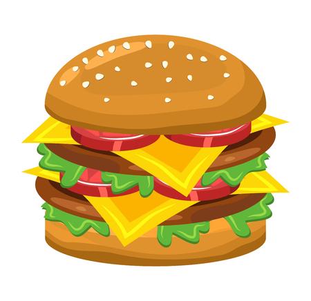 hamburger vector symbol icon design. Beautiful illustration isolated on white background