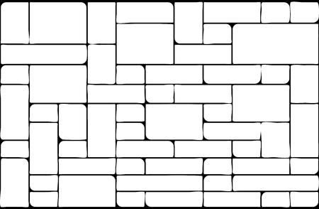 Fahnen-Tapeten-Designillustration des Steinwandschattenbildhintergrundes schöne