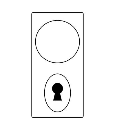 door knob: white door knob, handle vector symbol icon design. Beautiful illustration isolated on white background
