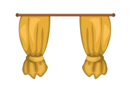 cartoon curtains symbol icon design beautiful illustration.