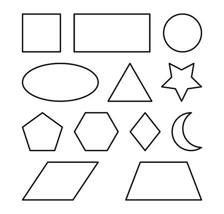 Formas Geométricas Cuadrado, Círculo, Ovalado, Triángulo, Hexágono ...