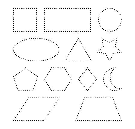 Formas Geométricas Cuadrado Círculo Ovalado Triángulo