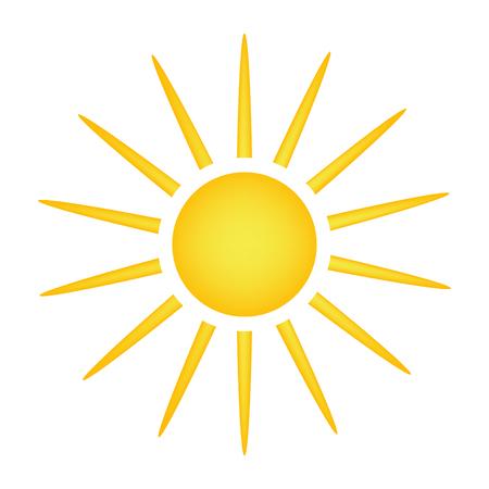 sun vector symbol icon design. Beautiful illustration isolated on white background Illustration