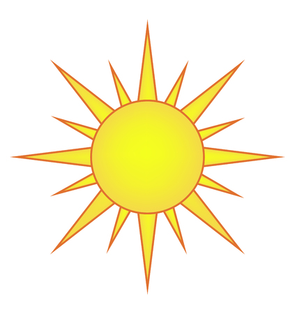 sun vector symbol icon design. Beautiful illustration isolated on white background Иллюстрация
