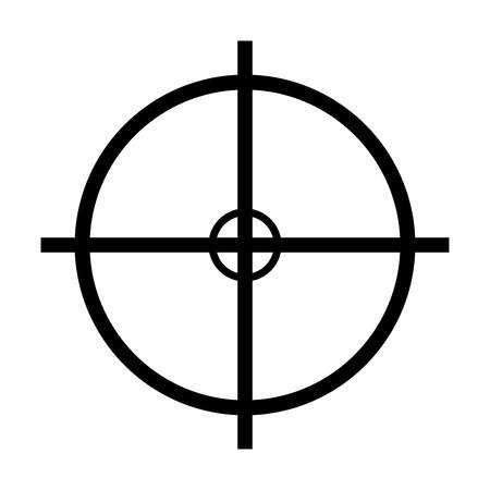 crosshair target vector symbol icon design. Beautiful illustration isolated on white background