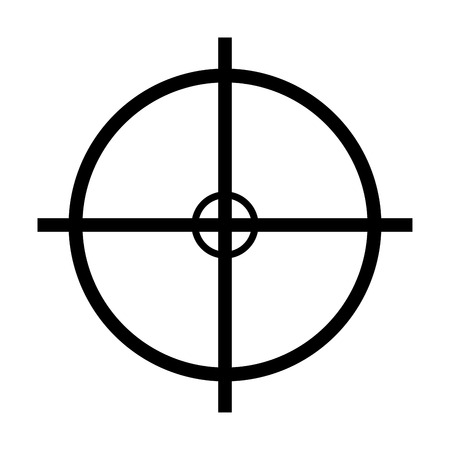 crosshair target vector symbol icon design. Beautiful illustration isolated on white background