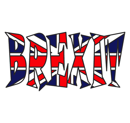 brexit text uk flag vector symbol icon design. Beautiful illustration isolated on white background