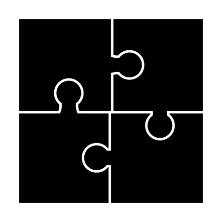 puzzle  silhouette set vector symbol icon design. Beautiful illustration isolated on white background