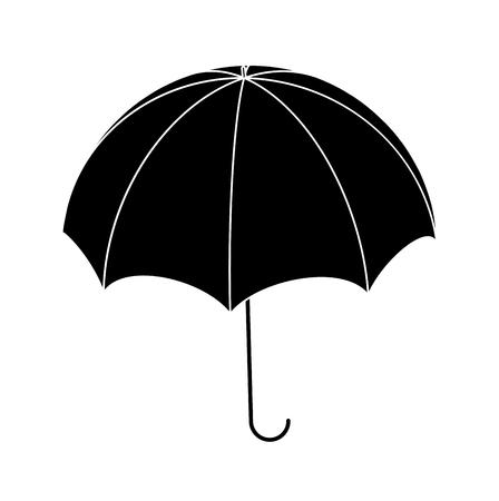 Umbrella silhouette, outline vector symbol icon design.  Beautiful illustration isolated on white background