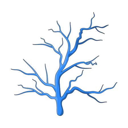 navire humain bleu vecteur symbole icône conception. Belle illustration isolée sur fond blanc