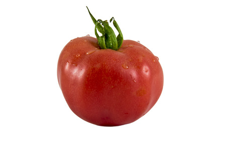 red tomato isolated on white background photo. Beautiful picture, background, wallpaper Stock Photo