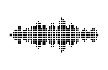 voice recorder: equalizer music sound wave vector symbol icon design. Beautiful illustration isolated on white background Illustration