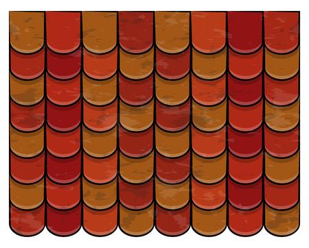 tuiles de toit texture beau design d & # 39 ; illustration de fond de bannière