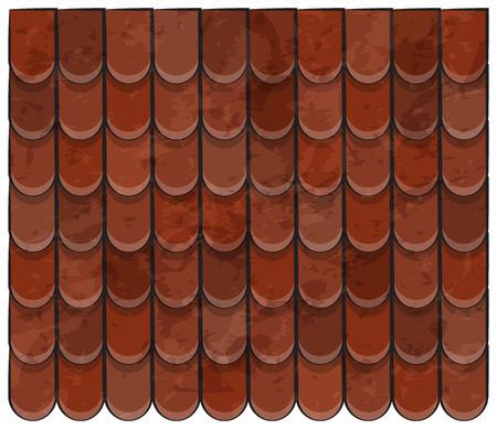 Dachziegel Textur schöne Banner Tapete Design Illustration Vektorgrafik