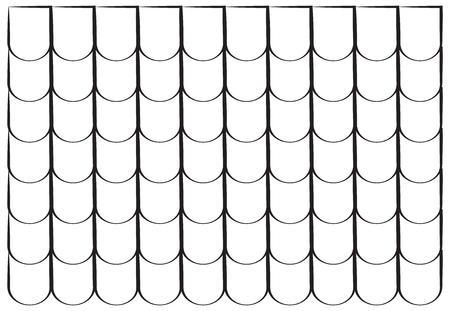 Dachziegel Silhouette Textur schöne Banner Design Wallpaper Illustration