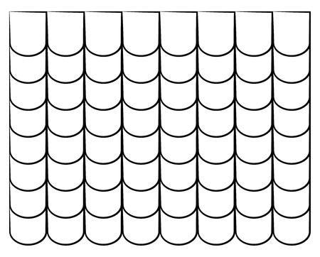 Dachziegel Silhouette Textur schöne Banner Tapeten Design Illustration Vektorgrafik