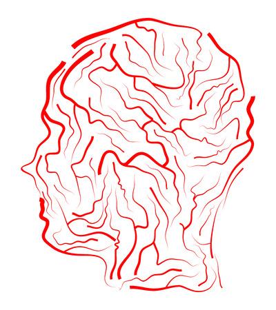 vein  human head vector symbol icon design. Beautiful illustration isolated on white background Illustration