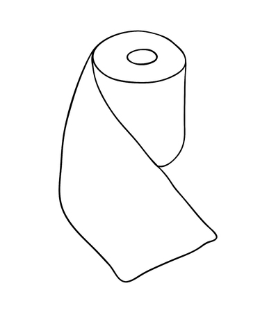 toilet paper rool  vector symbol icon design. Beautiful illustration isolated on white background
