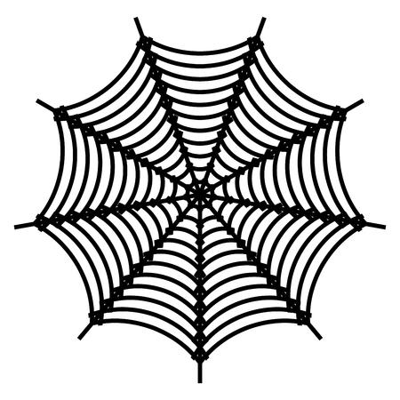 スパイダー web ベクトル シンボル アイコン デザイン。白い背景に分離された美しいイラスト  イラスト・ベクター素材