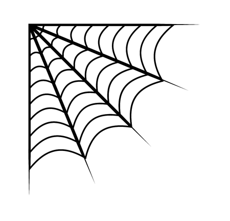 spider web vector symbol icon design. Beautiful illustration isolated on white background Illusztráció