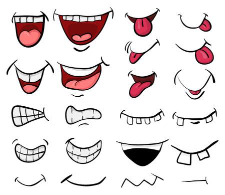 bouche de dessin animé définir la conception d'icône de symbole de vecteur. Belle illustration isolée sur fond blanc